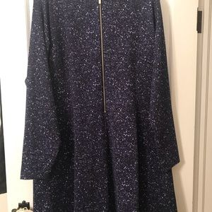 Micheal Kors Navy and white 20W knee length dress